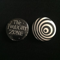 """THE TWILIGHT ZONE 1"""" buttons"""