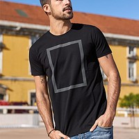 Men'S T-Shirt Short Sleeve Fashion Elastic Tshirt Men Summer Slim T Shirt Men White Black Top