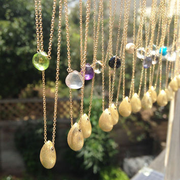 Gemstone + Nugget Necklaces