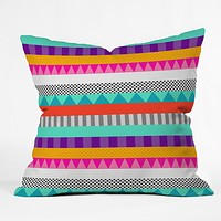 Elisabeth Fredriksson Happy Stripes 2 Throw Pillow