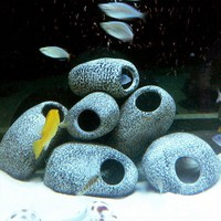 Cichlid Stone Aquarium Fish Tank Pond Ornament Decoration Shrimp Breeding