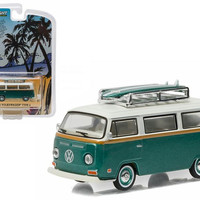 1972 Volkswagen Type 2 (T2B) Green Van with Surf Boards 1-64 by Greenlight