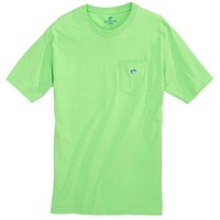 Embroidered Pocket Tee Shirt in Summer Green by Southern Tide