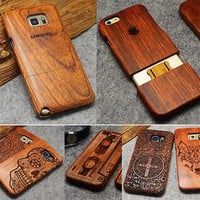 BROEYOUE Natural Wood Case For iPhone X 7 8 Plus 6 6S 5 5S SE For Samsung Galaxy S7 S5 S6 S8 Edge Plus Note 3 4 5 8 Phone Cases