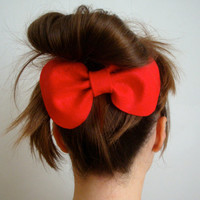 Giant Bow // Red Felt Cute Hair Bow // Original Design // Ready to ship
