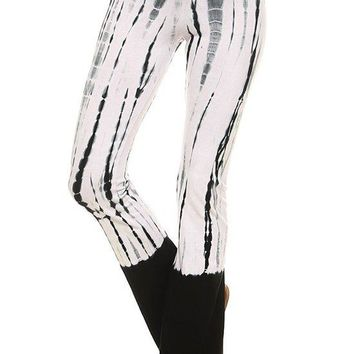 Black Tie Dye Yoga Pants