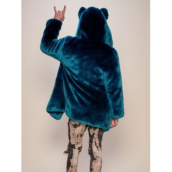 Classic Royal Wolf Luxe Faux Fur Coat