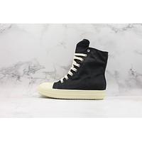 Rick Owens Drkshdw Scarpe Sneaker High Black Canvas Shoes
