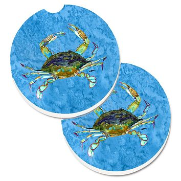 Crab Set of 2 Cup Holder Car Coasters 8656CARC