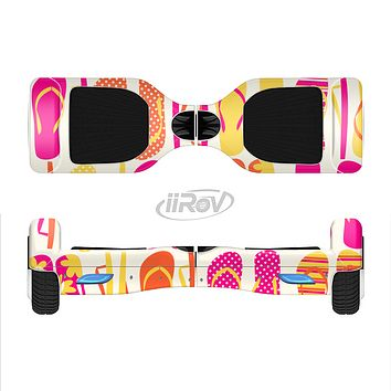 The Vibrant Pink & Yellow Flip-Flop Vector Full-Body Skin Set for the Smart Drifting SuperCharged iiRov HoverBoard