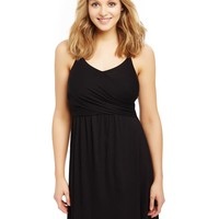 Twist Front Clip Down Nursing Nightgown- Solid