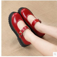 Size 34-39 Women Sweet Lolita Buckle Pumps Princess Leather Shoes Mad Shoes  F445