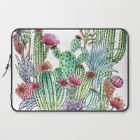 Cactus garden Laptop Sleeve by juliagrifoldesigns