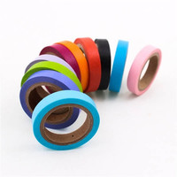 10pcs DIY Cute Kawaii Candy Color Tapes Paper Masking Stickers For Home Decoration Scrapbooking (Color: Multicolor) = 1714483716