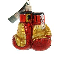 Old World Christmas BOXING GLOVES Glass Ornament Art Of Self-Defense 44096