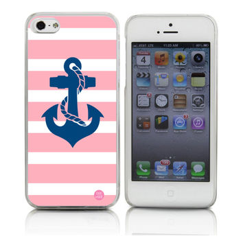 Anchor on Pink Stripes