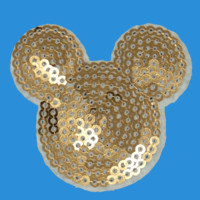 Sequin Mickey Iron On Patch