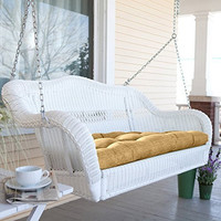 Resin Wicker Porch Swing