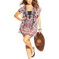 Becca ETC Sheer Printed Cover-Up Tunic