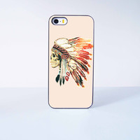 Indian skeleton Plastic Phone Case For iPhone iPhone 5/5S More Case Style Can Be Selected