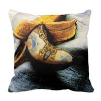 Venetian Banana Fantasy Art Modern Throw Pillow