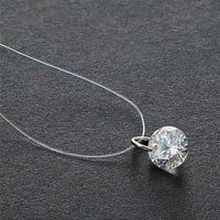 N2089 Zircon Pendant Necklaces Stunning Invisible Clavicle Line Crystal Chain Necklace Women Minimalist Jewelry