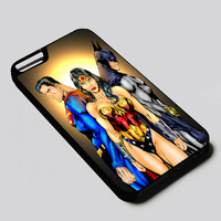 Wonder Woman Batman and Superman iPhone 4, 4s, 5, 5s, 5c, 6, 6 plus, 7, Samsung Galaxy S3, S4, S5, S6, S7 Case