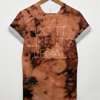 Bleached Legal All Over T Shirt