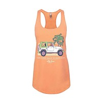 Girls Just Want to Have Sun Tank Top in Light Orange by Lily Grace