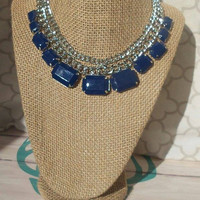 Navy Cable Necklace