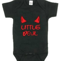 Grindstore Kidz - Little Devil Black Baby Grow - Buy Online at Grindstore.com