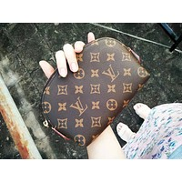 LV classic street fashion old flower retro female shell bag
