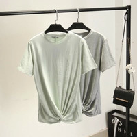 SIMPLE - Designer Popular Fashionable Summer Beach Holiday Round Necked Casual Party Wear Holiday Short Sleeve Top blouse T-shirt b2394