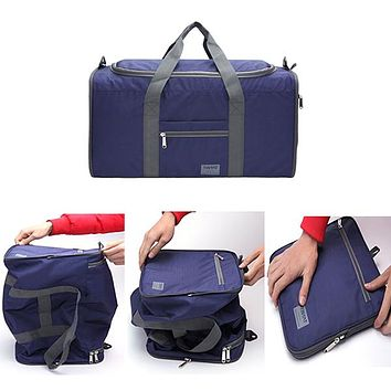 TinyAt Mens Foldable Duffle Travel Bag, Large Capacity