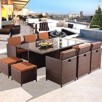 Classic Designed Sectional Dining Table and Chair Set