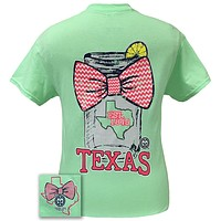 SALE Girlie Girl Originals Texas Chevron Mason Jar Preppy State Bow Bright T Shirt