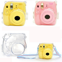 Thin Crystal Clear PC Hard Case Cover For FujiFilm Instax Mini8 Camera Protective Shell Anti-scratch Case for Polaroid INY66