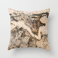 MARBLED Throw Pillow by Catspaws
