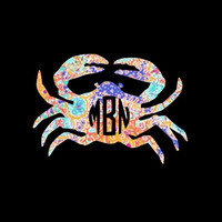 Monogram Lilly Inspired Crabs ~ because even crabs need a monogram!!