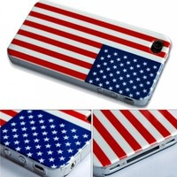 BONAMART ® American Flag National Flag Hard Case Cover For Apple iPhone 4 AT&T America