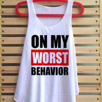 Drake shirt Drake on my worst behavior tshirt tank top vintage vest tee tunic sleeveless - size S M L