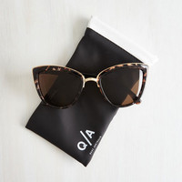 Festival My Girl Sunglasses in Cocoa by Quay from ModCloth
