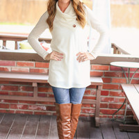 Button Detail Sweater - Ivory