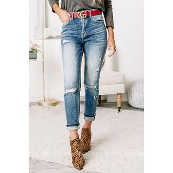 With A Clear Mind Vintage Wash Skinny Jeans