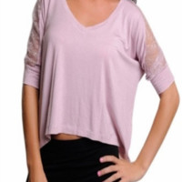 Lacey --  MAUVE PINK TOP