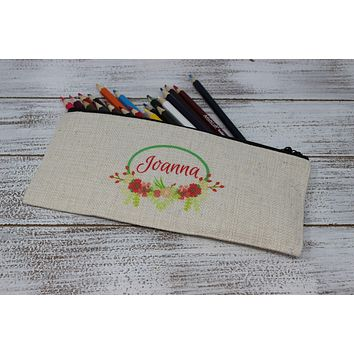Personalized Cosmetic Bags | Custom Cosmetic Bags | Floral Ring