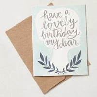 Have A Lovely Birthday Card by Anthropologie Turquoise One Size House & Home