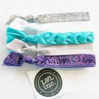 5 Hair Ties, The L & L Signature Set by Lucky Girl Hair Ties