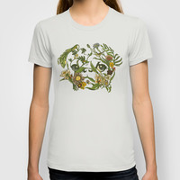 Botanical Pug T-shirt by Huebucket | Society6