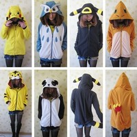 Pokemon piplup/umbreon/fire dragon/espeon monster hoodie coat jackt cosplay Hot